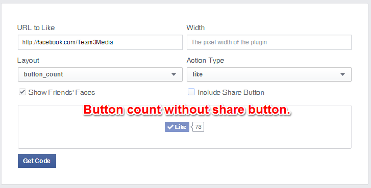 Facebook Like Button Button Count Layout Without Share